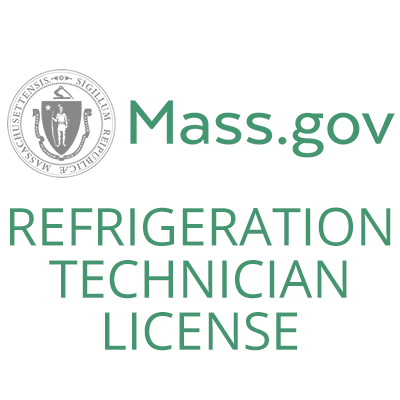 License in MA REFRIGERATION, certifications and licenses, Certified HVAC Technicians, Seashore Comfort Solutions